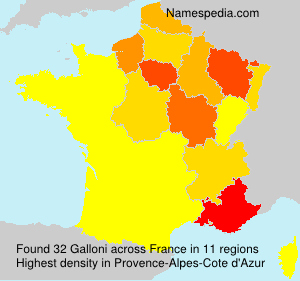 Surname Galloni in France