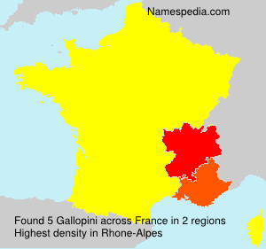 Surname Gallopini in France