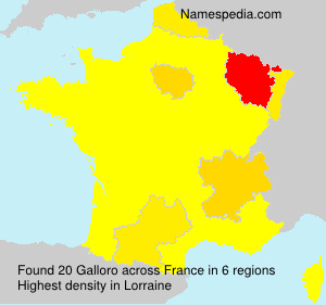 Surname Galloro in France