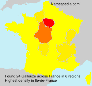 Surname Gallouze in France