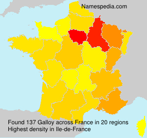 Surname Galloy in France