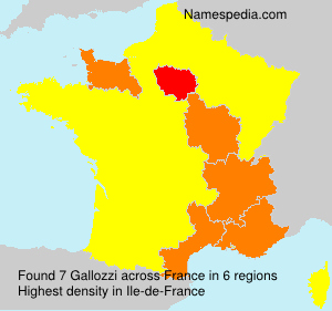 Surname Gallozzi in France