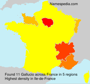 Surname Gallucio in France