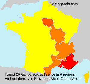 Surname Gallud in France