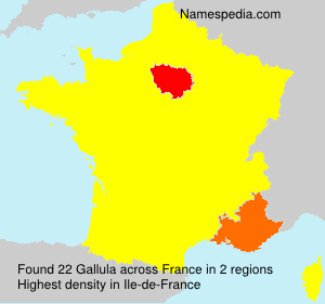 Surname Gallula in France