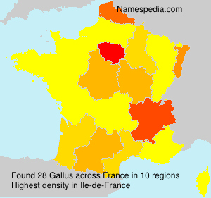 Surname Gallus in France