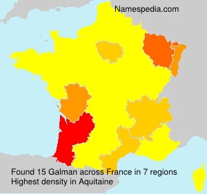 Surname Galman in France