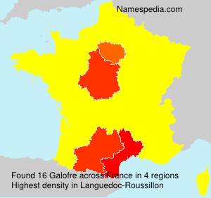 Surname Galofre in France