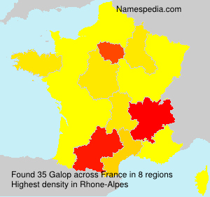 Surname Galop in France