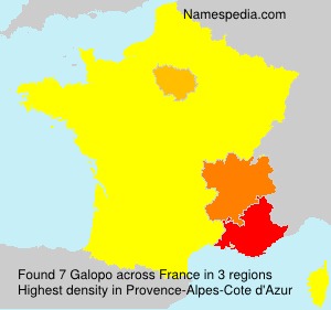 Surname Galopo in France