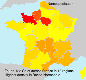 Surname Galot in France