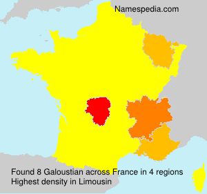 Surname Galoustian in France
