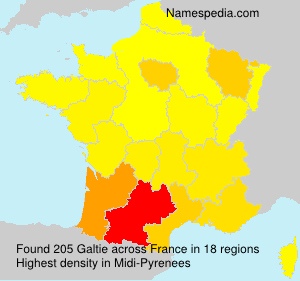 Surname Galtie in France
