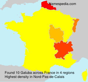 Surname Galuba in France