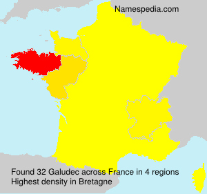 Surname Galudec in France