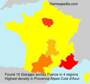 Surname Galuppo in France