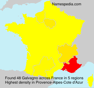 Surname Galvagno in France