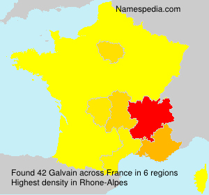 Surname Galvain in France
