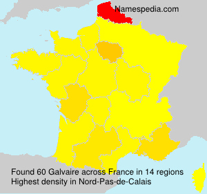 Surname Galvaire in France