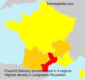 Surname Galvany in France