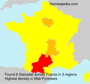 Surname Galzadet in France