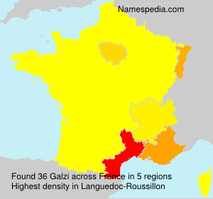 Surname Galzi in France