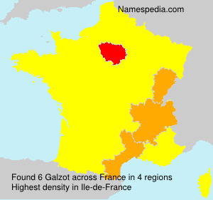 Surname Galzot in France