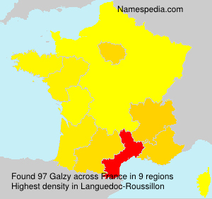 Surname Galzy in France