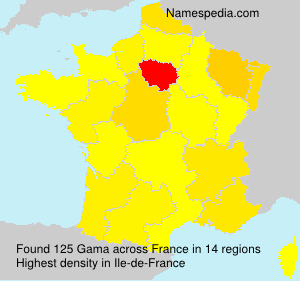 Surname Gama in France