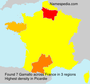 Surname Gamallo in France