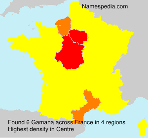 Surname Gamana in France