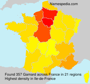 Surname Gamard in France