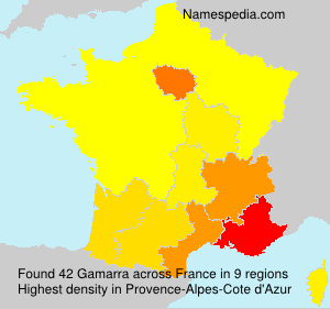 Surname Gamarra in France
