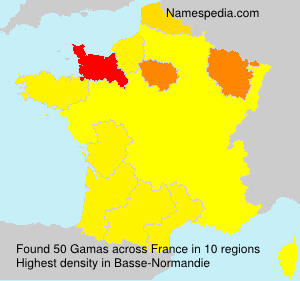Surname Gamas in France