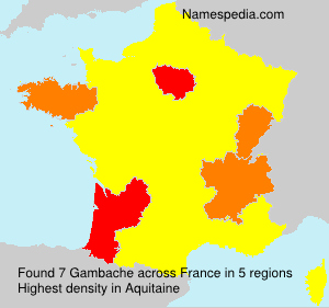 Surname Gambache in France