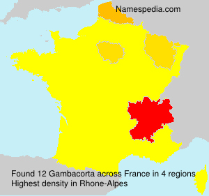 Surname Gambacorta in France