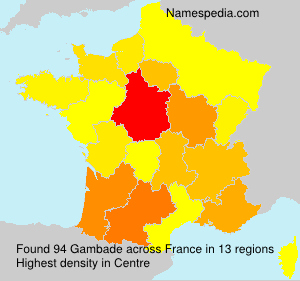 Surname Gambade in France