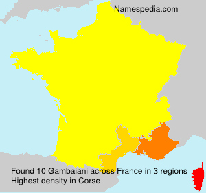 Surname Gambaiani in France
