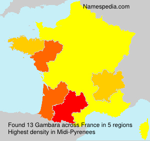 Surname Gambara in France