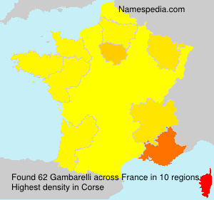 Surname Gambarelli in France