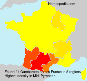 Surname Gambarotto in France