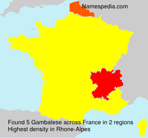 Surname Gambatese in France