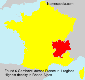 Surname Gambazzi in France