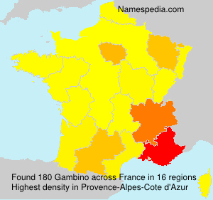 Surname Gambino in France