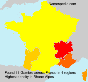 Surname Gambro in France