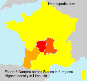 Surname Gamera in France
