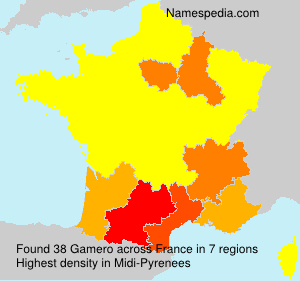 Surname Gamero in France