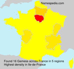 Surname Gamess in France
