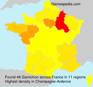Surname Gamichon in France