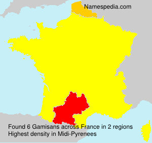 Surname Gamisans in France